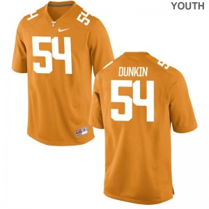 Ian Dunkin Tennessee Vols Jerseys Youth Game Orange Stitch