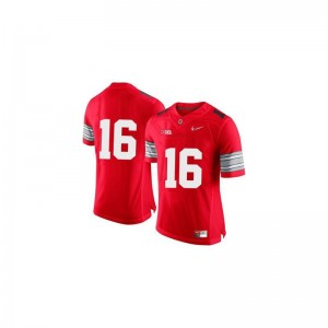 J.T. Barrett Ohio State Mens Jerseys Red Diamond Quest Patch Limited Jerseys