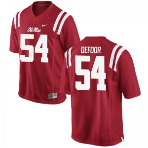 Jack DeFoor University of Mississippi Mens Jerseys Red College Limited Jerseys