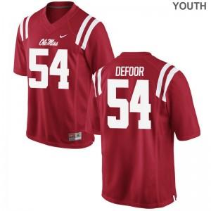 Ole Miss Jack DeFoor Jersey Red Kids Game