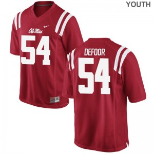 Jack DeFoor Youth Jersey Ole Miss Red Limited