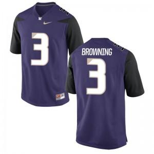Washington Huskies Jake Browning Game For Men Jerseys - Purple