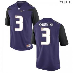 Jake Browning For Kids University of Washington Jerseys Purple Game Jerseys
