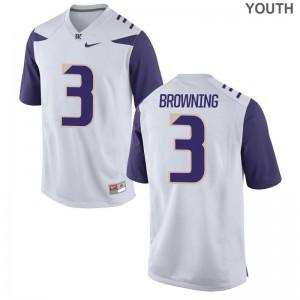 UW Huskies Youth(Kids) Game White Jake Browning Jerseys