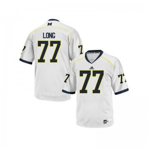 Men Game Michigan Wolverines Jerseys of Jake Long - White