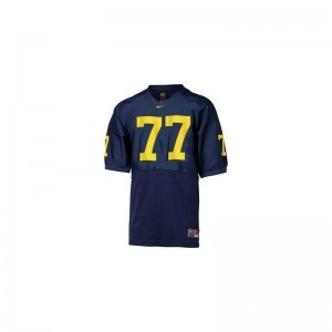 Michigan Jake Long Game Youth Jerseys - Blue