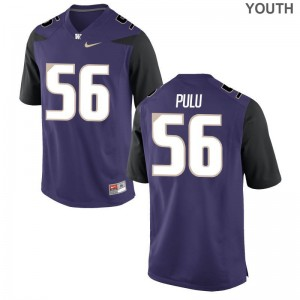 Jared Pulu UW Jersey For Kids Game - Purple