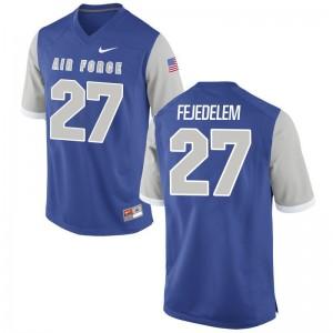 Men Jeremy Fejedelem Jerseys Embroidery Royal Game Air Force Falcons Jerseys