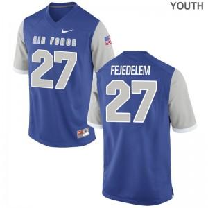 USAFA Jersey of Jeremy Fejedelem Youth(Kids) Game - Royal