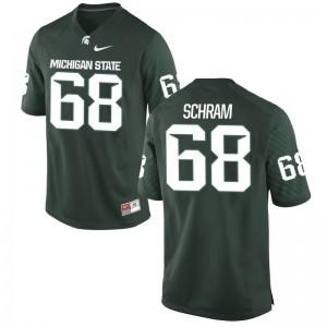 Michigan State Jeremy Schram Jersey Limited Green Mens