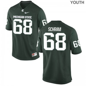 Michigan State Spartans Game Green Youth(Kids) Jeremy Schram Jerseys