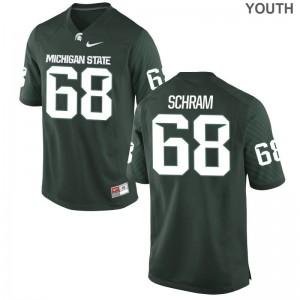 Youth(Kids) Limited Michigan State University Jerseys of Jeremy Schram - Green