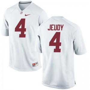 Alabama Crimson Tide Jerry Jeudy Game Mens Alumni Jerseys - White