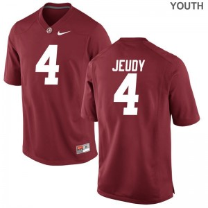 Bama Jerry Jeudy Game Youth NCAA Jersey - Red