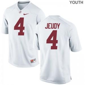 Bama Youth White Game Jerry Jeudy Jerseys