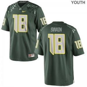 Oregon Ducks Jimmie Swain Jersey Limited Green For Kids