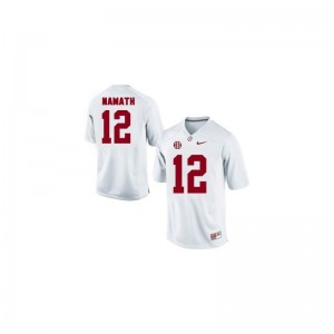 Limited White Joe Namath Jersey For Kids Alabama