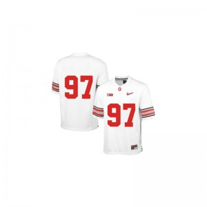 Joey Bosa Ohio State Jerseys For Men Game White Diamond Quest Patch College