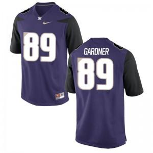 John Gardner Mens Jersey Limited University of Washington - Purple