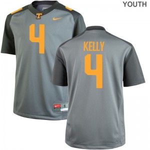 John Kelly Jersey Kids Tennessee Volunteers Game Gray