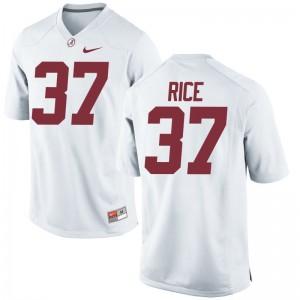 University of Alabama White Mens Limited Jonathan Rice Jerseys