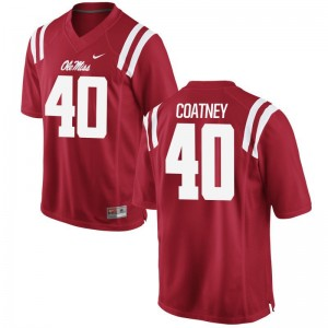 Limited Ole Miss Josiah Coatney Mens Jersey - Red
