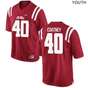 University of Mississippi Josiah Coatney Jersey Youth(Kids) Game - Red