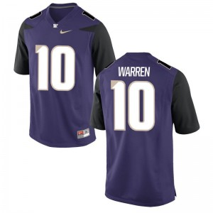 Jusstis Warren UW Huskies Jersey Purple Game For Men