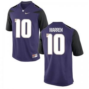 Washington Huskies Jusstis Warren Jerseys Mens Game - Purple