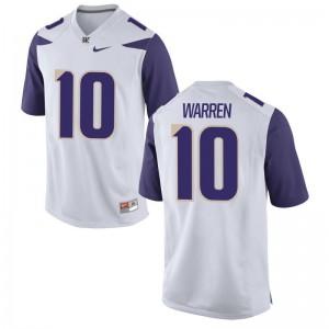 Men Jusstis Warren Jersey Official White Game Washington Jersey