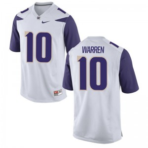 UW Huskies Jusstis Warren Youth(Kids) Game Embroidery Jersey White