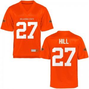 Justice Hill OSU Cowboys Jerseys Orange For Men Limited