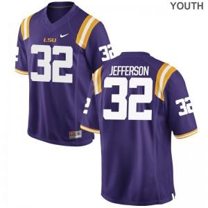 Justin Jefferson Kids Jerseys LSU Limited - Purple