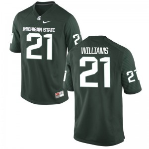 MSU Justin Williams Jerseys Mens Game Green Jerseys
