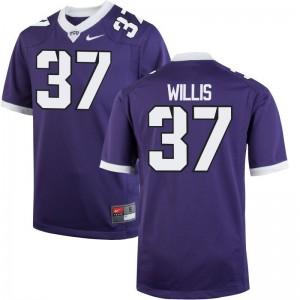 Texas Christian Limited Kade Willis Men Jerseys - Purple