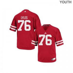UW Kayden Lyles Jerseys Youth Authentic Red