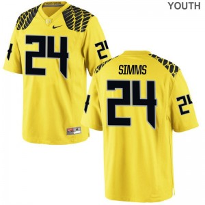 Keith Simms Jersey Ducks Limited For Kids - Gold
