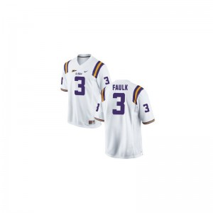 Kevin Faulk Youth Jerseys Tigers Game - White