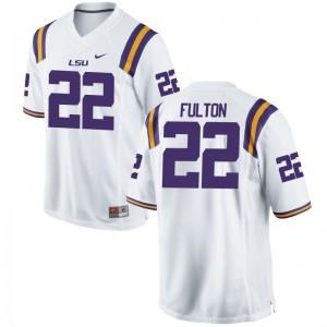 LSU Kristian Fulton Jersey Limited Men Jersey - White