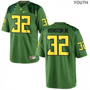 Oregon Ducks La'Mar Winston Jr. Youth(Kids) Limited Jersey Apple Green