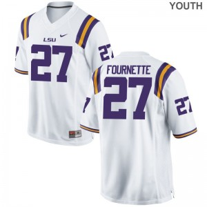Lanard Fournette LSU Jersey Game Kids White