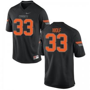 Landon Wolf Jerseys OSU Cowboys Black Game Men Jerseys