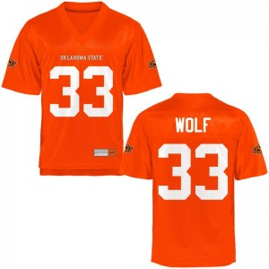 OK State Landon Wolf Jerseys Orange Limited Youth