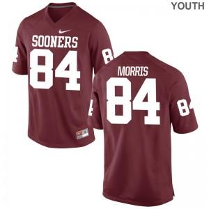Oklahoma Sooners Lee Morris Jerseys For Kids Game Crimson