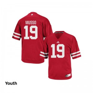 Wisconsin Jersey of Leo Musso Authentic For Kids - Red