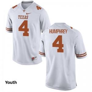 Lil'Jordan Humphrey Youth Jersey Longhorns Limited White