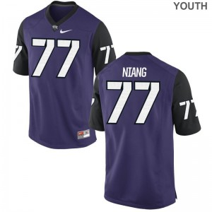 Lucas Niang Jersey Youth(Kids) Texas Christian Limited - Purple Black