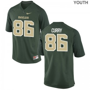 Malik Curry Youth(Kids) Hurricanes Jersey Green Limited NCAA Jersey