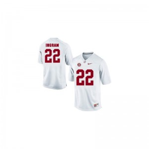 Alabama Crimson Tide Mark Ingram Jersey Limited Youth(Kids) White