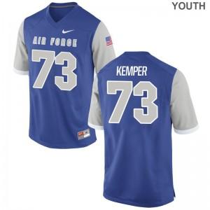 Royal Game Max Kemper Jerseys Youth Air Force Falcons